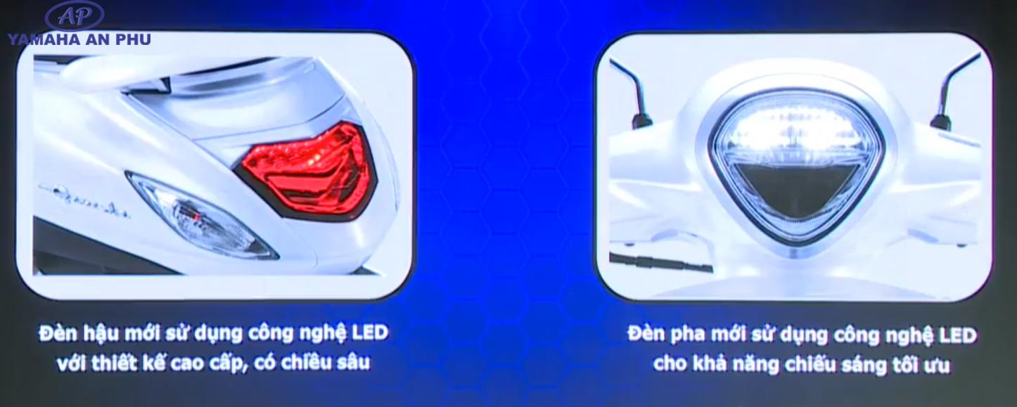 Hệ thống đèn trước sau Yamaha Grande Hybrid 2019